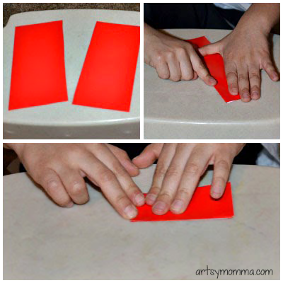Valentine's Day Origami Bookmark Instructions