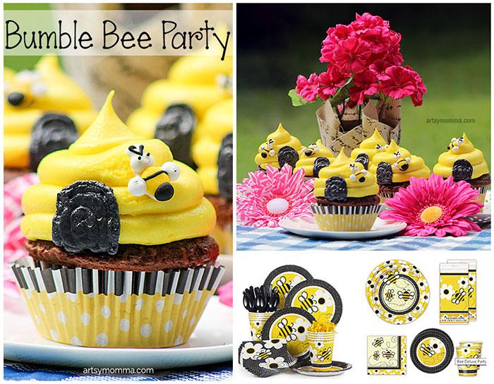 Bumble Bee Birthday Cupcakes Recipe Tutorial