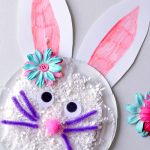 Cute Easter Craft for Kids: Paper Plate Bunny Made From Shredded Paper