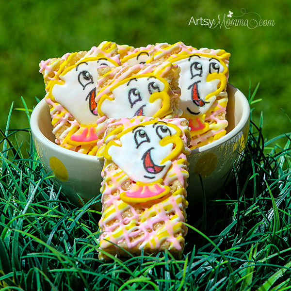 Royal Icing Chip Treat Toppers & Party Snack Idea for Beauty & the Beast Theme