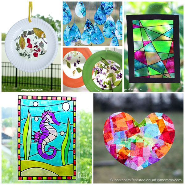 Colorful Suncatcher Crafts for Kids to Make