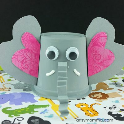 Easy-to-make K Cup Elephant Craft