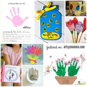 Mother's Day Crafts: Kid-made flower, cards, handprint crafts, & more!