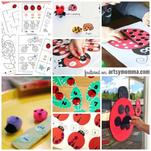 Ladybug Themed Learning Activities for Preschoolers