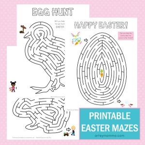 Simple Yet Fun Printable Easter Mazes