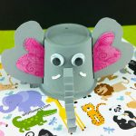 Easy-to-make K Cup Elephant Craft for Kids