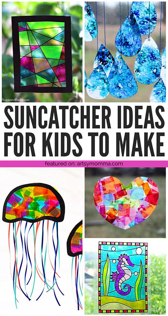 Colorful Suncatcher Craft Ideas for Kids to Make