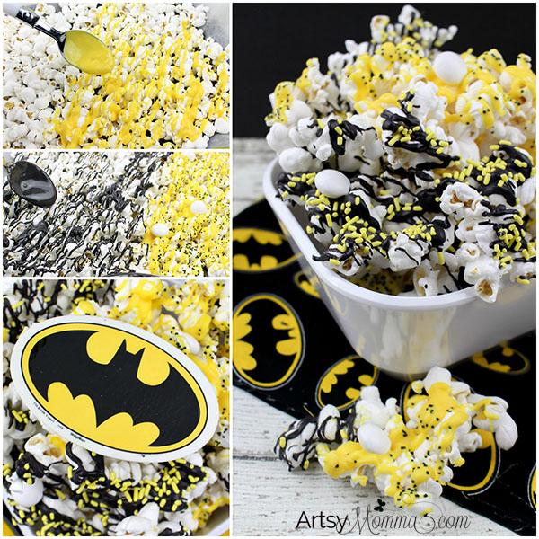 Fun Popcorn Recipe Tutorial Inspired by The Lego Batman Movie