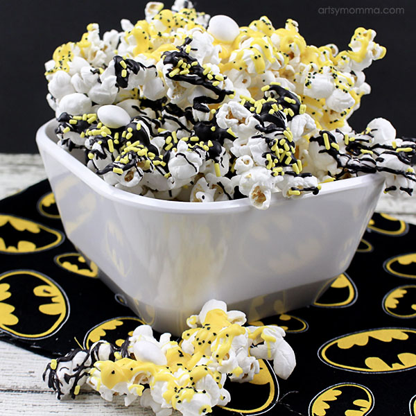 Candy Coated Batman Popcorn Tutorial