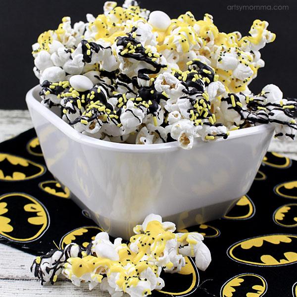 Candy Coated Batman Popcorn Tutorial