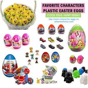 Favorite Character Easter Eggs for Basket or Egg Hunts