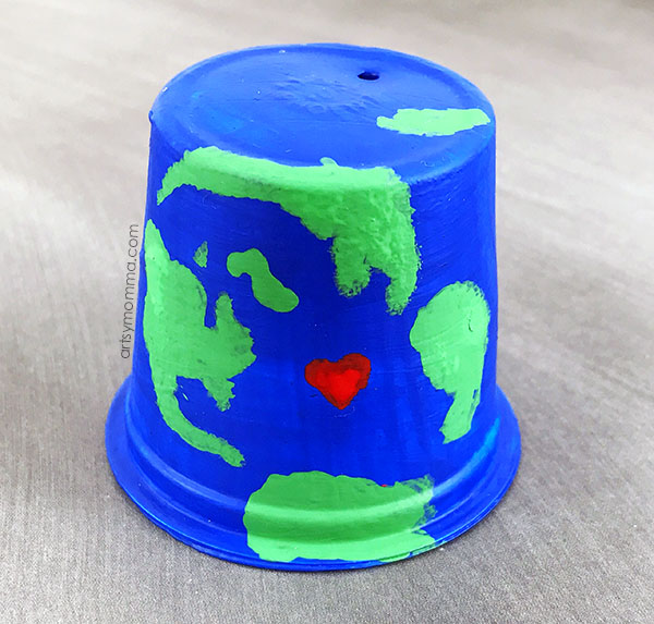 Recycle a K Cup Into a Fun Earth Craft
