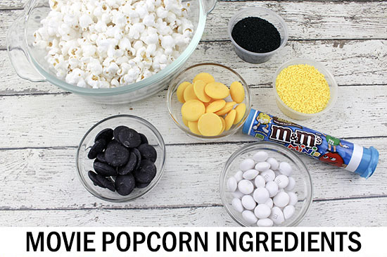 Ingredients for Lego Batman Movie Popcorn