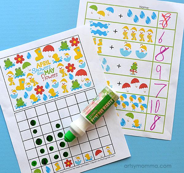 Printable Weather Themed Math Activities for Kindergartners