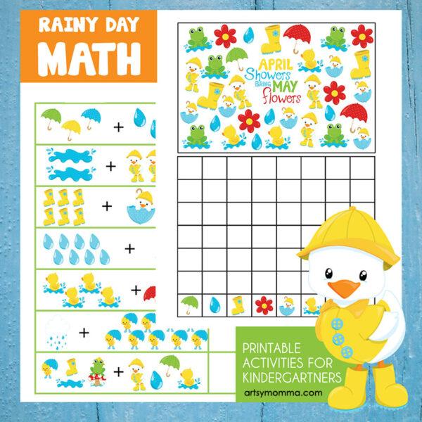 Rainy Day Math Printables for Kindergarteners