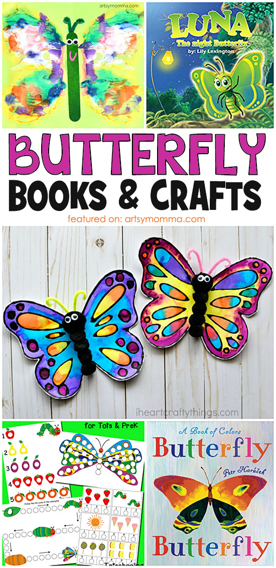 Books About Butterflies and Caterpillars + Related Activity Ideas