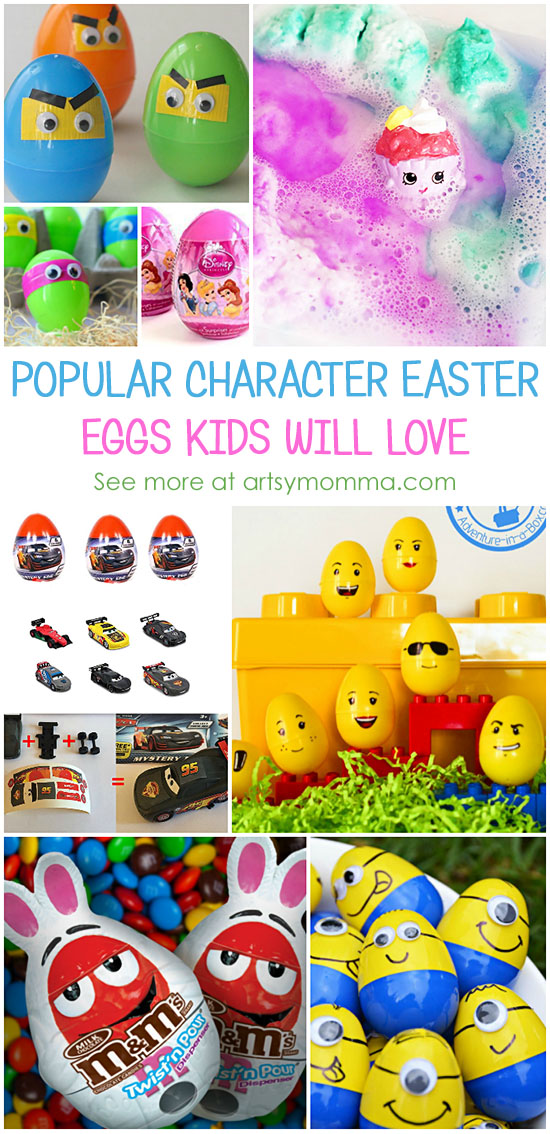 Easter Eggs to Make or Buy in Popular Characters Kids Love