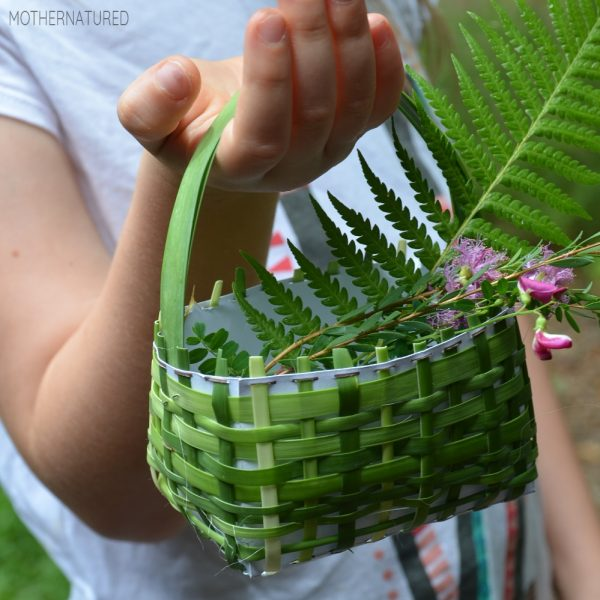Weaved Basket made from Nature
