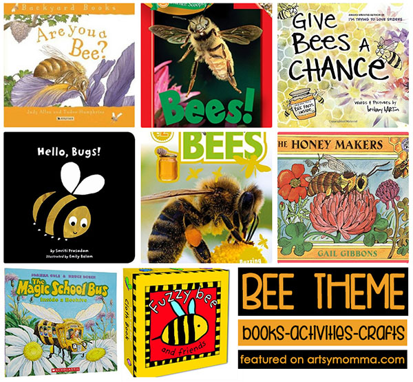 Bee Theme including Activities, Food, Books, and Crafts