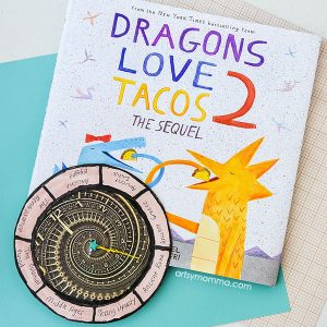 Read Dragons Love Tacos 2, Make a Fun Time Travel Craft