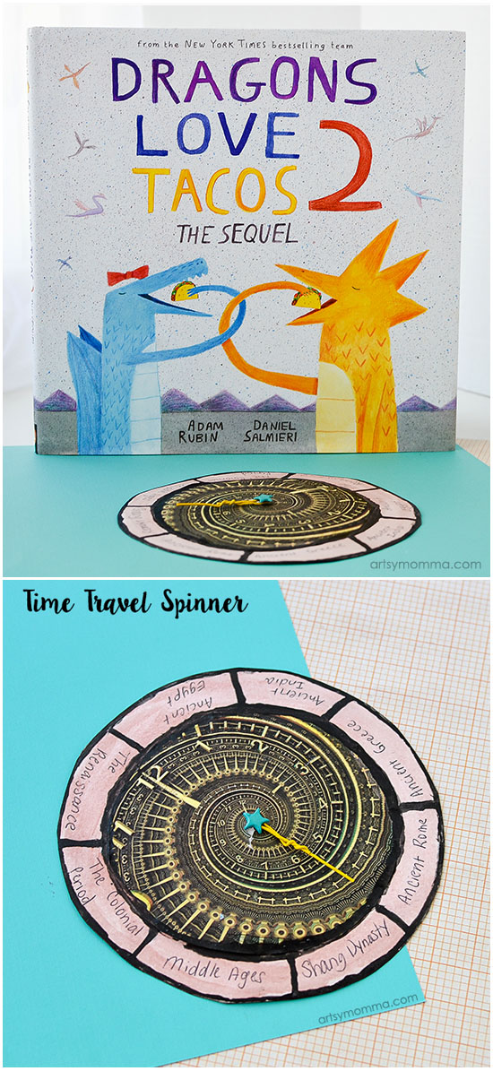 Easy Time Travel Craft Inspired by Dragon Loves Tacos 2 Book