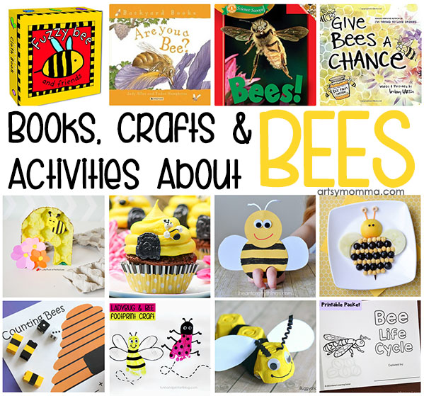 Bee Themed Activities, Crafts, & Book Suggestions