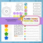 Flower Preschool Them: Prewriting Activities, Colors, and Counting!