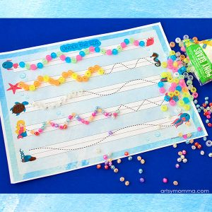 Ocean Themed Prewriting Printable & Fine Motor Activity