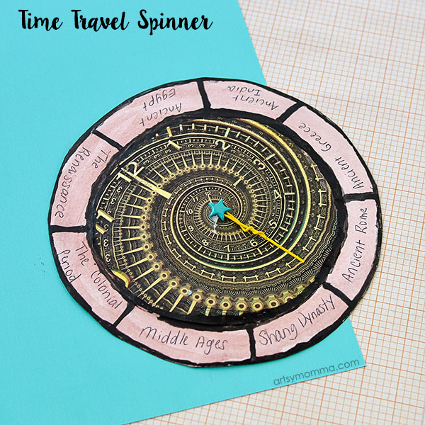 DIY Time Travel Spinner - World History for Kids Craft