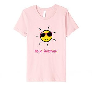 Girl's Graphic Summer Tee: Hello Sunshine!