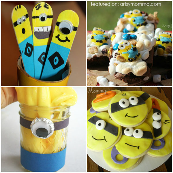 Minions Snacks & Craft Ideas
