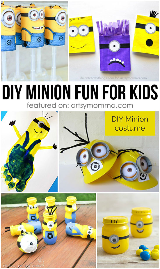 DIY Minion Fun for Kids - Despicable Me Movie Inspired Crafts, Food, Ideas