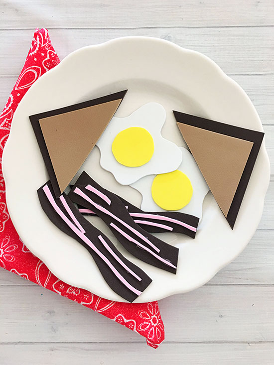 This easy Foam Breakfast Tutorial will be fun for the kids to make you a pretend breakfast!