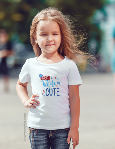 Red White & Cute 4th of July T-shirt for Kids