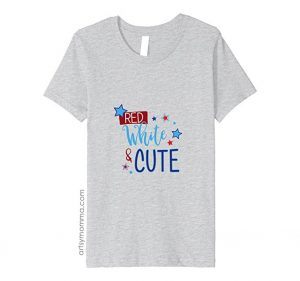 Kids Patriotic Shirt for 4th of July with Cute Saying