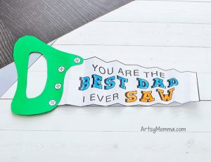 Kids Paper Saw Craft Idea to Make Dads