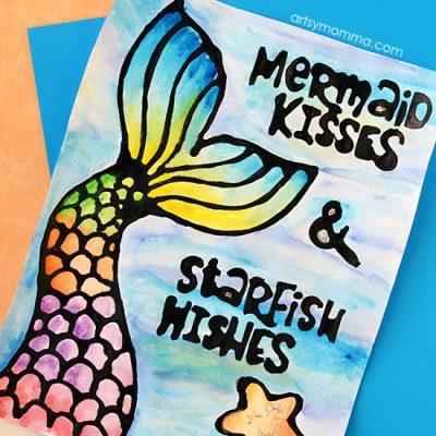 Printable Mermaid Posters with Cute Sayings
