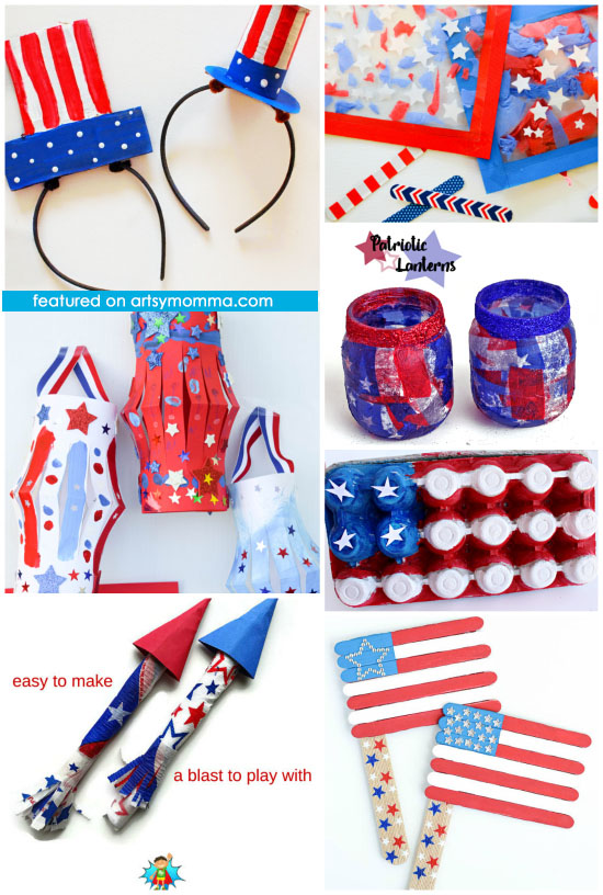 Red, White, & Blue Kids Crafts for the Fourth of July
