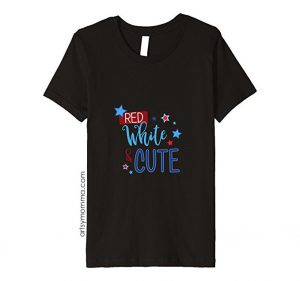 Red, White, & Cute T-shirt - Girls 4th of July Tee