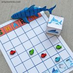 Shark Graphing Activity with Shark Dice - Printable