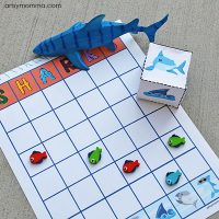 Printable Shark Graphing Activity – includes shark dice!