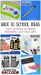 Back to School Resources: crafts, keepsakes, printables, lunch ideas & more!