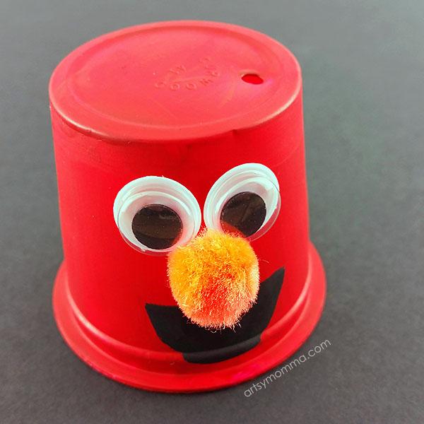 K Cup Elmo Kids Craft Idea