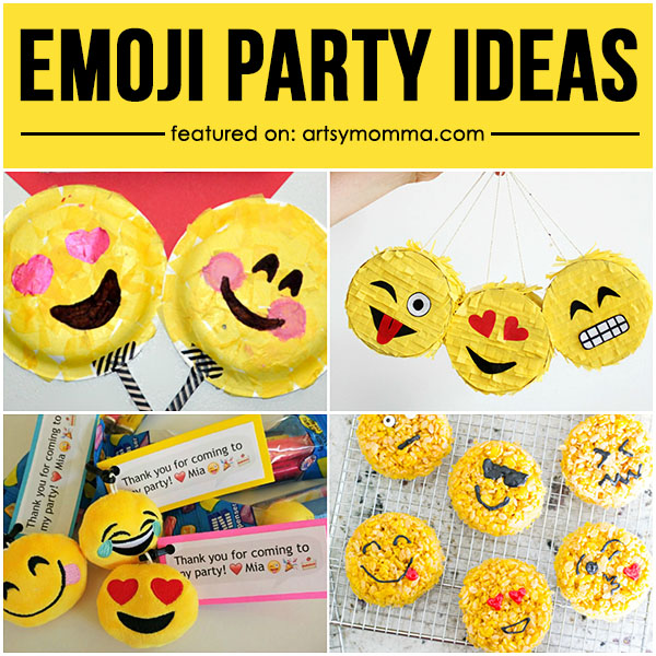 Super Fun Emoji Party Ideas or Emoji Movie Night