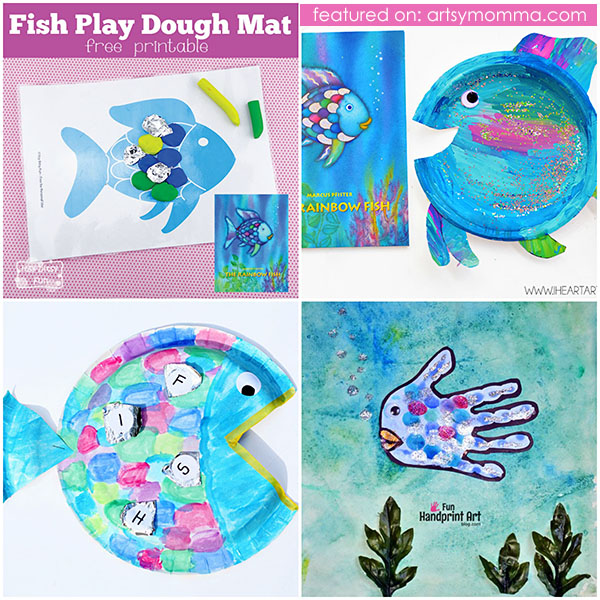 Fun List of Colorful Rainbow Fish Crafts & Activities for Kids