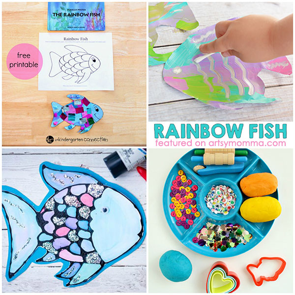 The Rainbow Fish Book-inspired Activities & Crafts for Kids