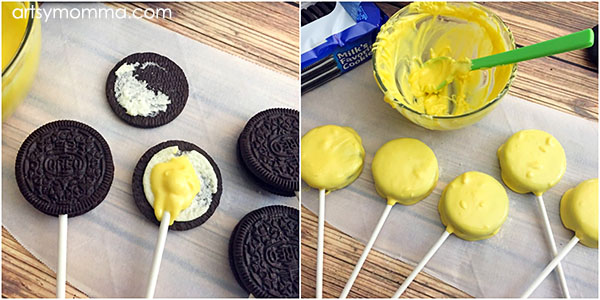 How to make Oreo Cookies into Emoji Pops for a Party