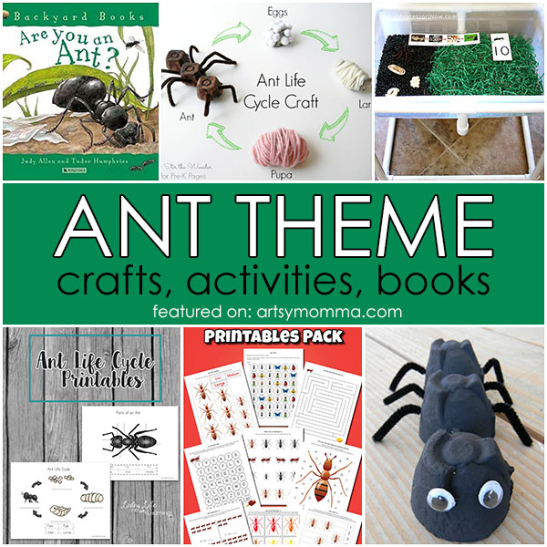Ant Theme - Crafts, Books, Activities