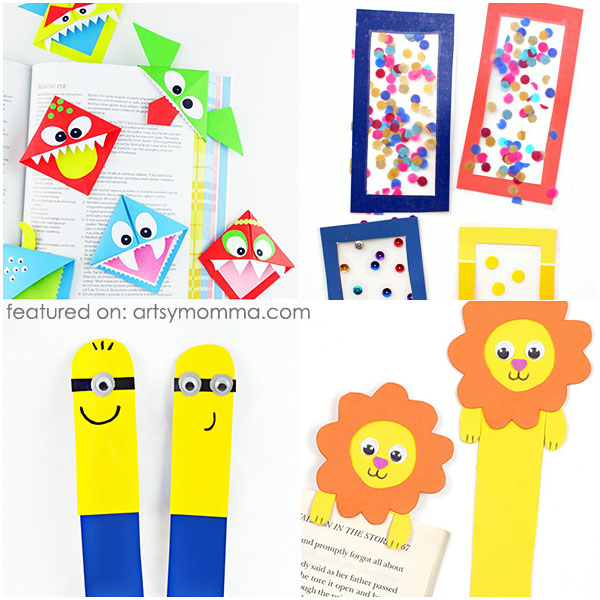 Do it yourself bookmarks for crafty kids artsy momma 15 creative fun bookmark crafts for kids solutioingenieria Image collections
