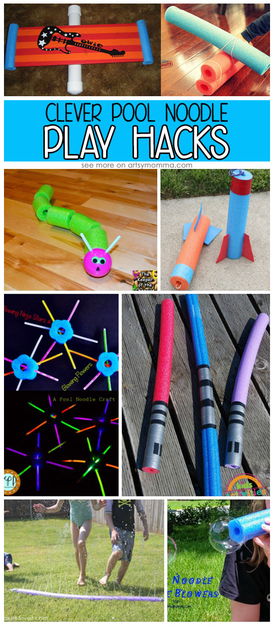 Upcycled Pool Noodle Play Ideas That Are Clever & Fun For Kids
